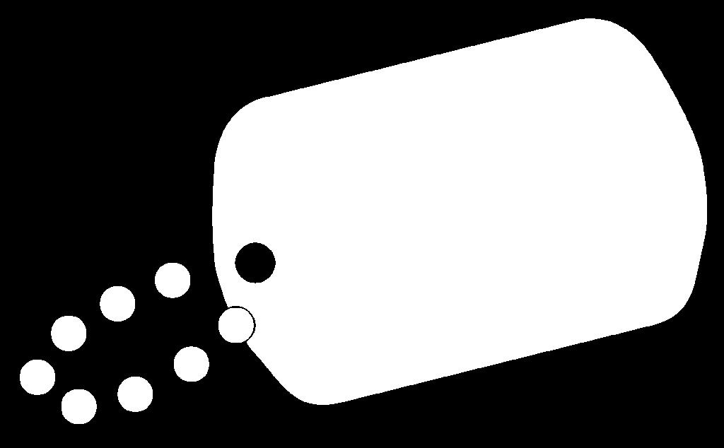 White Dog Tag